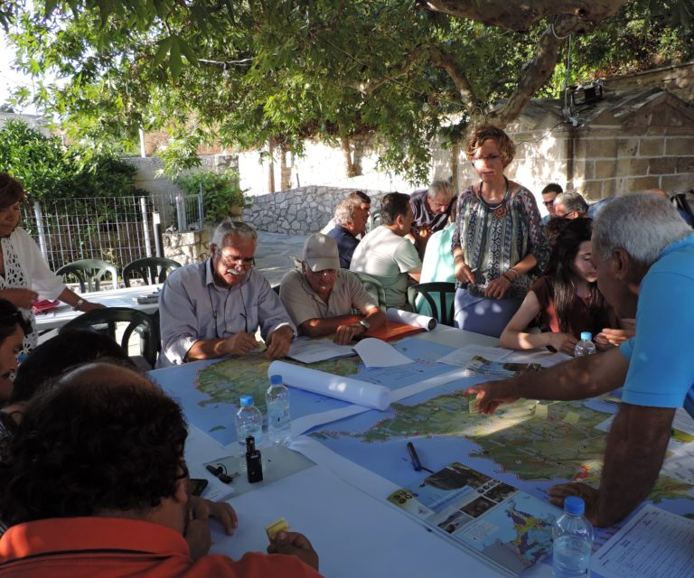 "''The Sitia UNESCO Global Geopark as a lever of sustainable development"". Workshop with cultural and agricultural organizations © Kalliope Pediaditi"